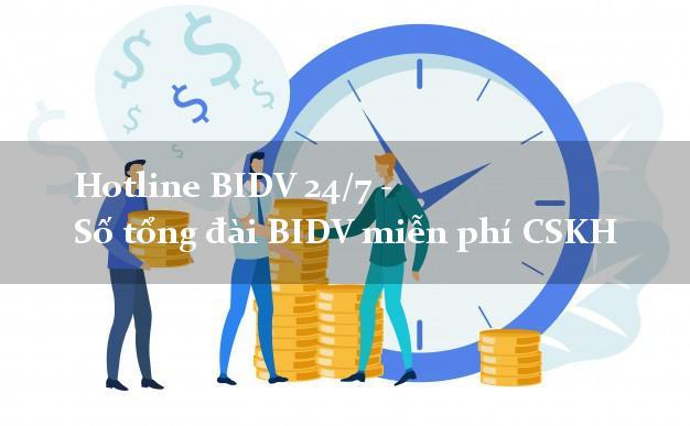 Hotline BIDV 24/7 - Số tổng đài BIDV miễn phí CSKH